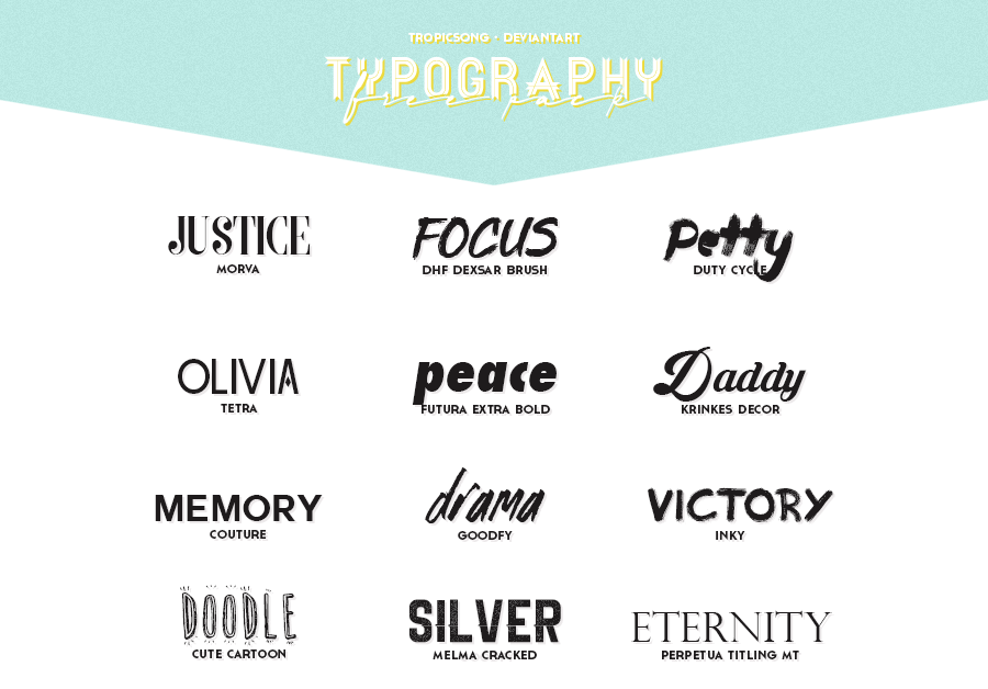 5th pack [ typography ] by tropicsong on DeviantArt