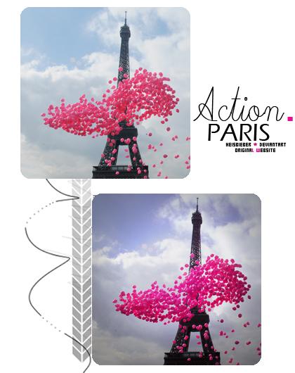 Action Paris by Heisbieber