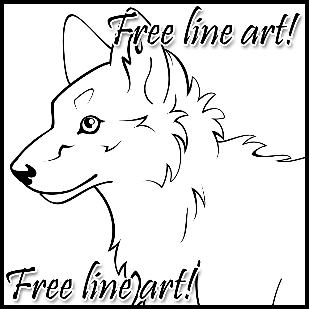 FREE LINEART - Wolf Pup by WildSpiritWolf