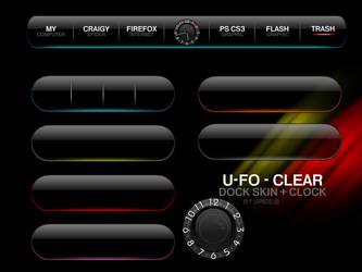 U-Fo Dock Skin + Clock by NoobGamer75