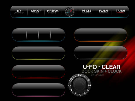 U-Fo Dock Skin + Clock