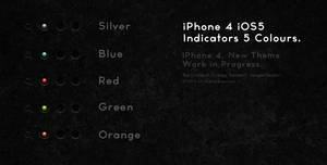 iPhone 4 iOS5 Indicators 5 Colours.