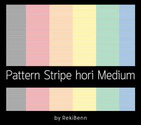 Pattern Stripe hori Medium by TheSeekerReki