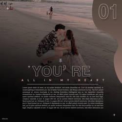 DESTACADA LOVE YOU / plantilla 46 editable