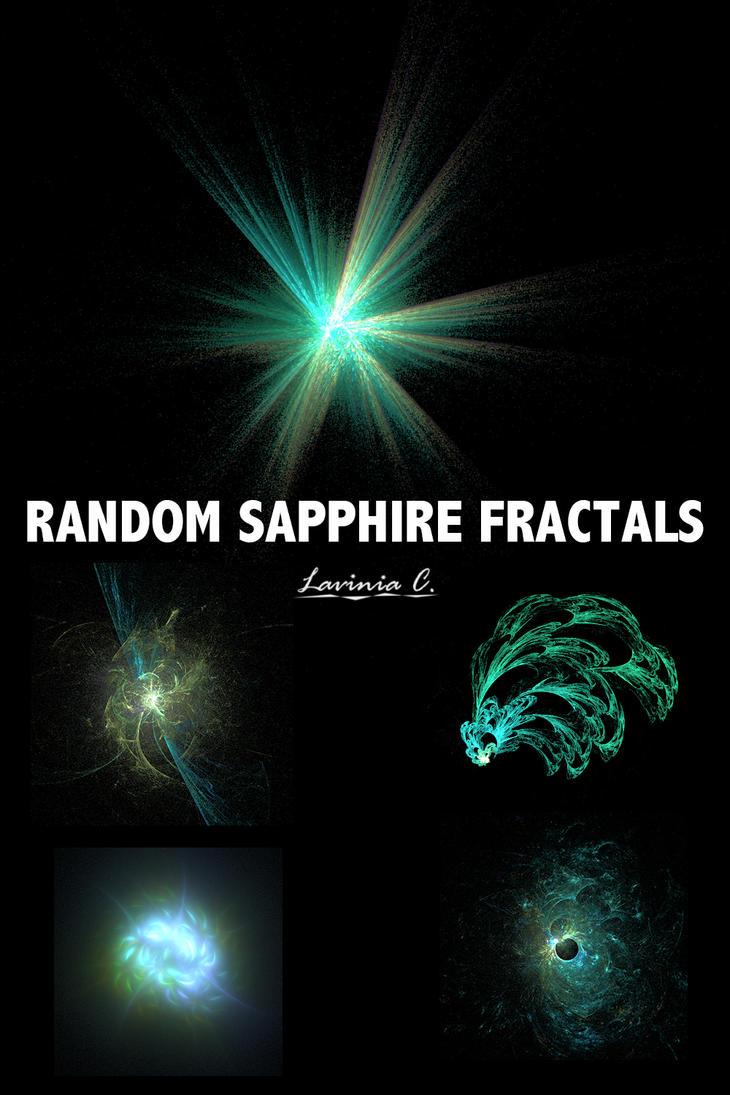 Random Sapphire Fractals by LaviniaChu