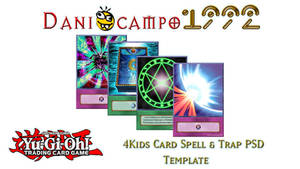 4Kids PSD Spell and Trap Template by DaniOcampo1992