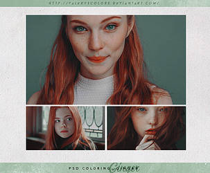 PSD COLORING #25|Ginger by valeryscolors