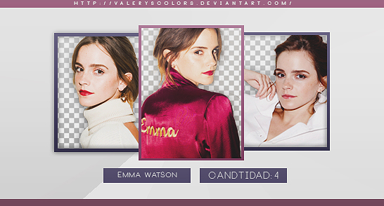 Emma Watson Png Pack by valeryscolors