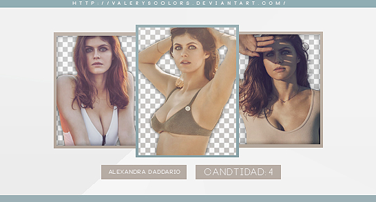 Alexandra Daddario Png Pack by valeryscolors
