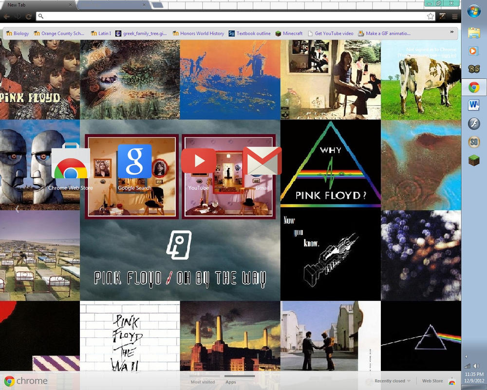 Google themes pink floyd - Oh By The Way By Pinkfloydfanforever