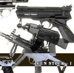 Guns - brushes stock n1