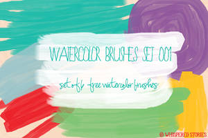 Watercolor Brushes Set 001 by whisperedstories