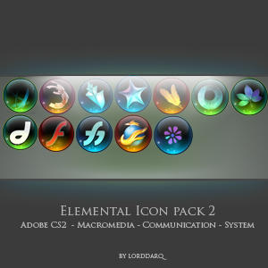 Elemental icons pack 2 by lorddarq