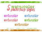 Five Watercolor Styles