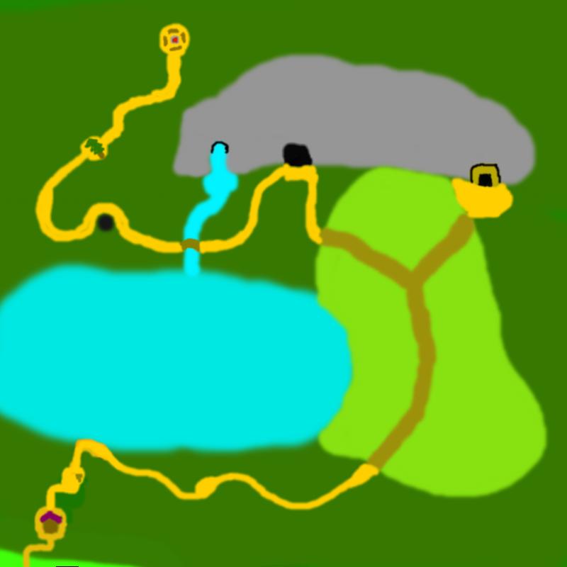 The Deep Dark Woods Map by Sealninja