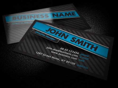 Free Dark Business Card by artnook