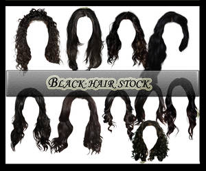 Black Hair Pack1 by Owl666PS