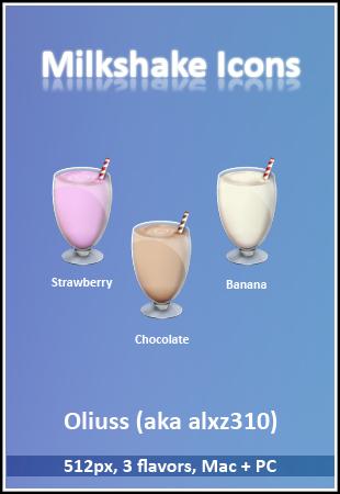 Milkshake Icons by Oliuss