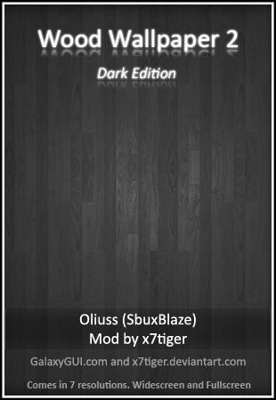 Wood Wallpaper 2, Dark Edition by Oliuss