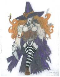 Hazel the Witch pathfinder OC by D. H. Torkavian