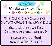 Font - Slawp by JustPepo