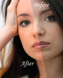 Enhancing skin color by mermes