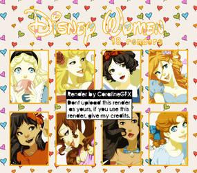 Disney Women-Render Pack #21