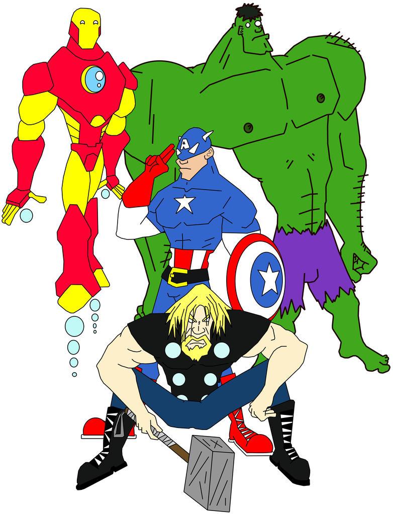 Marvel Ultimate AVENGERERERS by dippydude