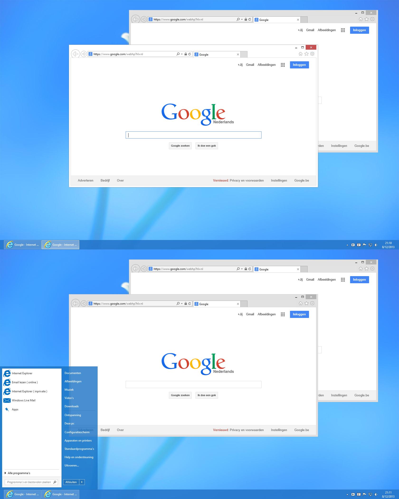 White window borders  for Windows 8.1