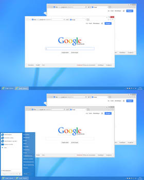 White window borders  for Windows 8.1