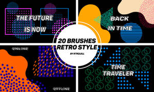 20 retro style Brushes-by-RTRQuill