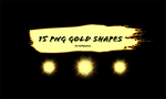 15pngs Free Gold Shapes by RTRQuill by RTRad