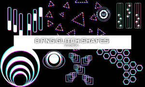 8 Glitch shapes by RTRQUILL