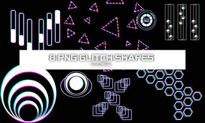 8 Glitch shapes by RTRQUILL by RTRad