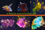 6 nebulas texture backgrounds by RTRQuill by RTRad