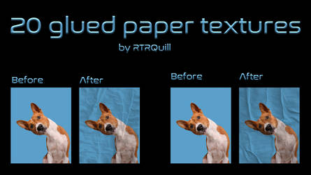 20 Glued Paper 2nd Pack by RTRQuill by RTRad