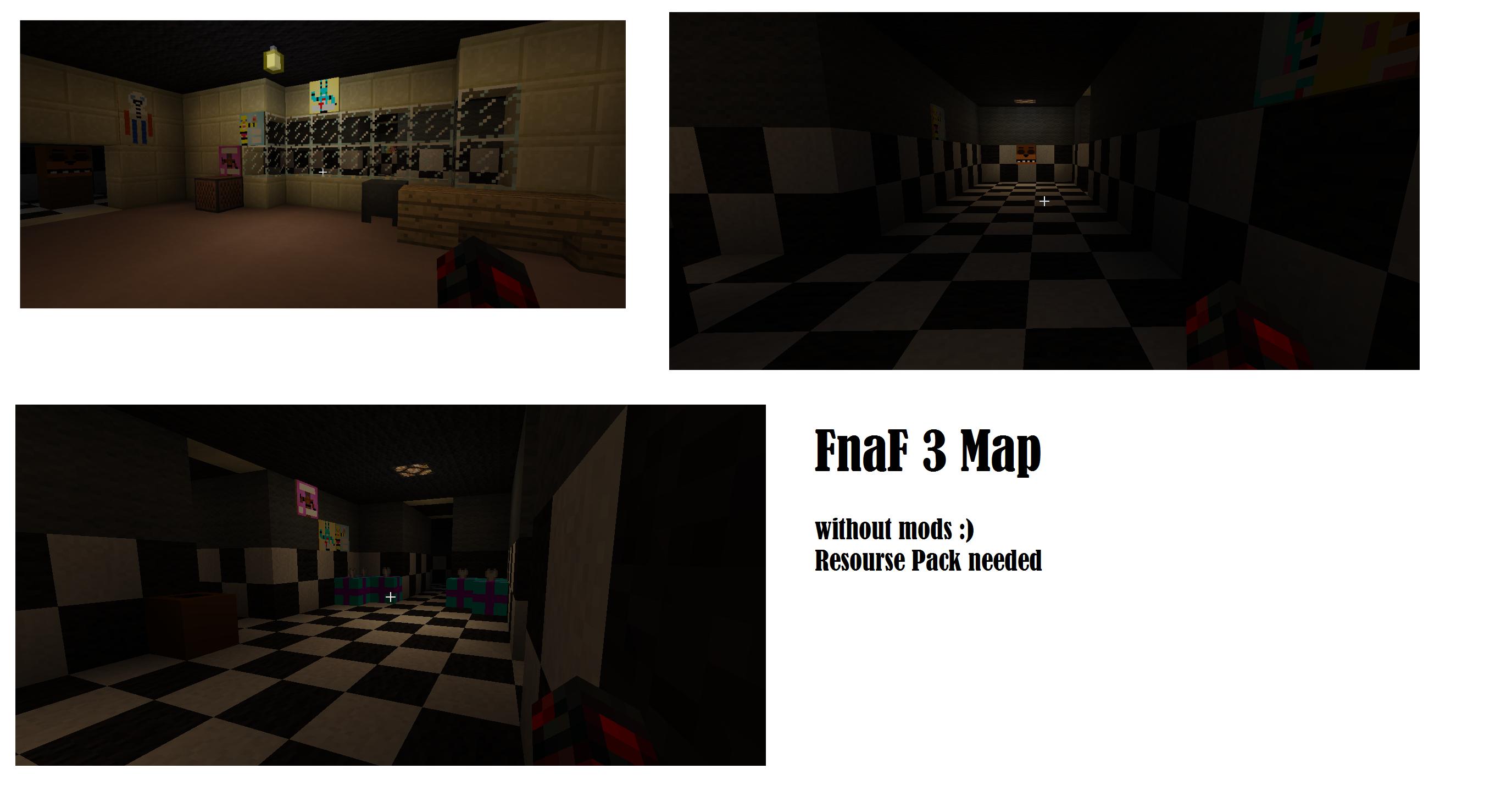 карта fnaf 2 v0.2 на minecraft 1.7.2 #8