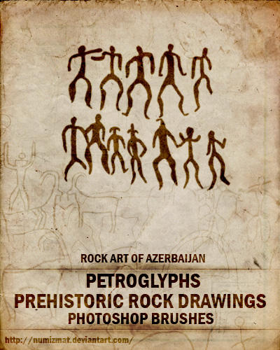 Prehistoric rock drawings