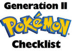 Pokemon PRINTABLE Checklist Generation II