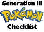 Pokemon PRINTABLE Checklist Generation III