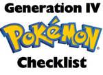 Pokemon PRINTABLE Checklist Generation IV