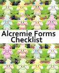 Pokemon  PRINTABLE Alcremie Forms Checklist