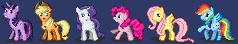Pixel Pony Smilies by Stinkehund