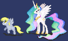 Two more pixel ponies by Stinkehund