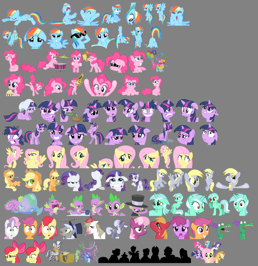 100 Pony Smilies -update by Stinkehund