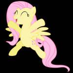 Fluttershy prancing (svg)