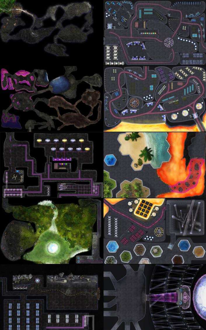 Tabletop Maps by Stinkehund