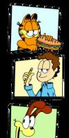 Garfield, Jon n' Odie in the Strip by FTFTheAdvanceToonist