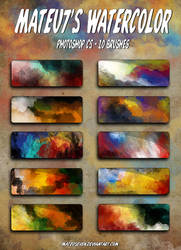 Mateu7's Watercolor Brushes by mateuseven