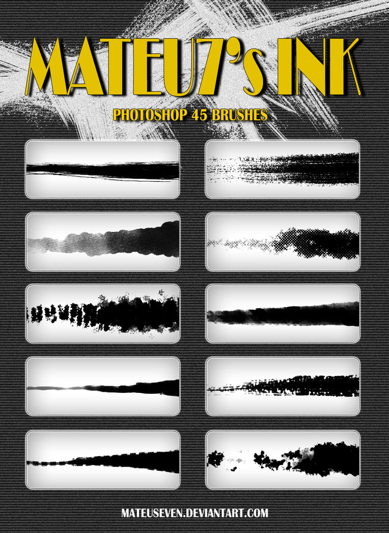 Mateu7's Ink Brushes by mateuseven